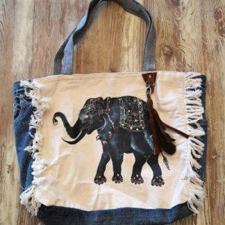 Sac denim recyclé éléphant