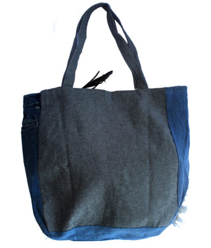 sac denim recyclé dos